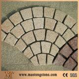 il granito esterno di 60X60X3cm ha fiammeggiato la pietra per lastricati dei lastricatori