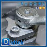 La maneta de Didtek API 6D 4inch funciona la vávula de bola de acero de bastidor
