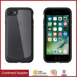 Caixa desobstruída híbrida tecida nova do telefone de pilha da textura para o iPhone 7