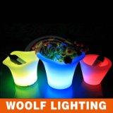 El LED iluminado encendió el cubo de hielo para el cubo de hielo encendido LED iluminado grande del partido