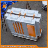 Cabine industrial do revestimento do pó das vendas quentes com Reciprocator e carrinho manual