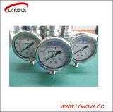 Calibrador de presión roscado del acero inoxidable