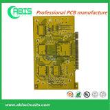 Желтая монтажная плата PCB Fr4 маски припоя разнослоистая