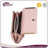 Faniの女性のためのピンクの青PU手の財布、女性可動装置の財布
