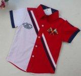Kurzes Hülsen-Jungen-Polo-Hemd in der Kind-Kleidung-Kind-Abnützung Sq-17116