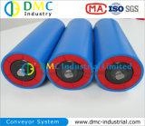 159mmの直径のコンベヤ・システムのHDPEのコンベヤーのアイドラー青いコンベヤーのローラー