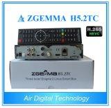 O decodificador Zgemma H5.2tc Sat do H. 265/Hevc/o ósmio duplo E2 DVB-S2+2xdvb-T2/C do linux do núcleo receptor do cabo Dual afinadores