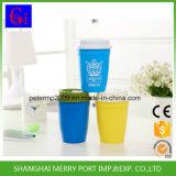 Respetuoso del medio ambiente al por mayor precio de fábrica vaso de plástico con tapa y paja