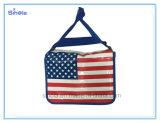 Спорты людей флага страны и мешок отдыха кожаный