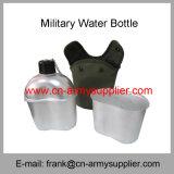 Militäraluminiumwasser-Flasche mit Armee-Wasser-Becher und Oxford-Deckel