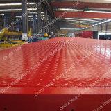 2axle 40ton transporte de contenedores de superficie plana del semi-remolque