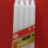 China Factory Candy Home Light White Wax Candle
