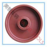 Pneumático plástico do sólido da roda do carrinho de criança de 5 PP da polegada