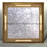 Glace blanche d'argent de miroir de miroir de cuivre d'antiquité - miroir de la couleur A005
