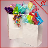 Sacos de papel de compra brancos brancos de Kraft dos sacos de compra do lustro