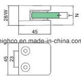 Pasamano de cristal cuadrado de la abrazadera para el sistema de la barandilla y de la barandilla