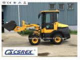 Cargador de la rueda de la retroexcavadora de la maquinaria de granja con el excavador y el cubo hechos en China