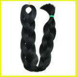 黒く総合的な拡張毛の編むこと