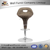 Well Furnir Wicker Seat Furniturer Tabuinha de bar de altura ajustável
