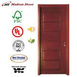 Fester Eingangs-hölzerne Tür mit PU-Farbanstrich