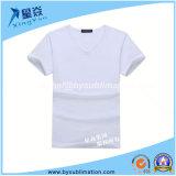 Kurzer Hülse V-Stutzen modales Sublimation-T-Shirt