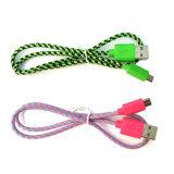 tipo androide trenzado cable micro del nilón del 1m-3m del USB de los datos