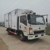 Sinotruk HOWOの容器のトラック4X2 5ton冷却装置トラック