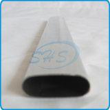 Pipe ovale dégrossie plate d'acier inoxydable pour la frontière de sécurité