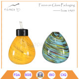Lamp van de Olie van het Glas van de Kleur van Mininature de Stevige, de Lantaarn van de Kerosine, de Lantaarns van de Olie
