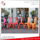ホテルのイベントのホールの快適な赤いカラーシリーズ結婚式の鉄の椅子(TP-37)
