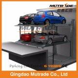 Zwei Pfosten-Vertiefung-hydraulische Selbstparken-Systems-Auto-Aufzug-Garage für Untergrund