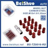 Bunter CNC-Aluminiumlegierung-Rad-Mutteren-Verschluss