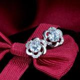 Серьги Inlay стерлингового серебра способа 925 женщин кристаллический Слив-Форменный