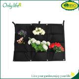 Onlylife плантатор ткани 12 цветочных горшков напольной вертикали карманн 66*80cm чувствуемых садовничая и баков плантатора вися