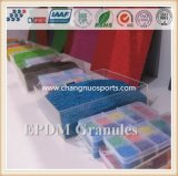 Sport, der bunte EPDM Gummi-Oberflächenkörnchen ausbreitet