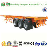 Remorque squelettique squelettique d'essieux du transport de conteneur 2 ou 3 semi