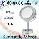 espejo cosmético libre del vector de 8.5 '' LED (sensor, interruptor del tacto)