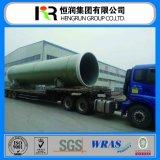 Certificado de Wras y fábrica FRP/tubo de la fibra de vidrio de GRP para el agua/la central eléctrica