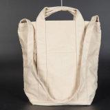 Sacchetto di Tote di acquisto del cotone di Eco/sacchetto pieghevole del vino della tela di canapa