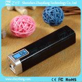 la Banca esterna di potere del profumo della batteria 2600mAh con la visualizzazione di LED e la torcia elettrica (ZYF8060)