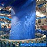 70GSM tissu tissé par pp enduit bleu Rolls
