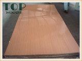 madeira compensada do núcleo do Poplar/vidoeiro/folhosa de 1220*2440 (4*8) 9/12/15/18mm branca/do vermelho/cor de Brown poliéster