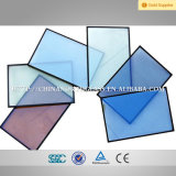 6/12/6 Edge, Tempered Reflective o di Double caldo Silver Low E Coating Insulated Glass