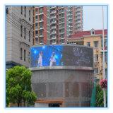 Pantalla al aire libre a todo color combada de la pantalla de visualización de LED LED