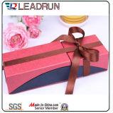 Contenitore di carta lussuoso di sciarpa della casella del legame di arco del contenitore di regalo dei monili capretto dei bambini/del bambino (m222)