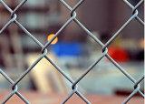 Frontière de sécurité de maillon de chaîne (PVC et galvanisé)