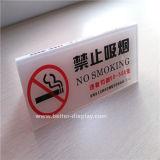 Placa não fumadores feita sob encomenda do sinal de Hotle (BTR-I2012)