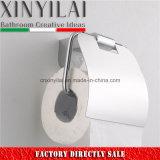 Sostenedor de papel higiénico material de la aleación de la alta calidad con la cubierta