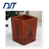 Diseño a medida de madera baratos contenedor de la pluma para el almacenamiento