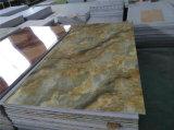 UV Coated мраморный доска нутряного украшения панели стены листа